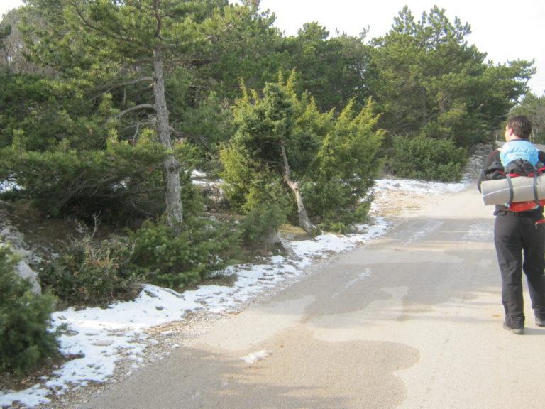 Snijeg na Vidovoj gori